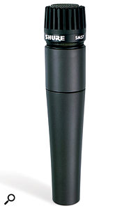 Classic mic that it is, the SM57 won'tusually be the first choice for acoustic guitar. However, if you're after a more percussive sound withinbusy arrangements, it may be just the job.