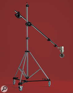 An expensive mic stand might seem like awaste of money, given that most still suffer from 'droop', but some very well-engineered stands exist that do not suffer from this problem. This stand from Sontronics, for example, is more than worth its cost, given that it is protecting far more valuable mics that could last you alifetime if well looked after.