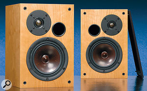 AVI's Pro Nine Plus monitors (left) have their tweeter mounting and porting asymmetrical to the main driver. This is actually relatively common, as you can see from the Acoustic Energy AE22s and the Dynaudio BM15As (below).