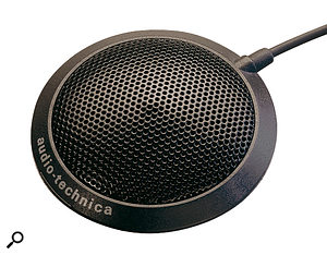 At the budget end of the boundary mic market, the Audio Technica ATR9 is a decent option. This model is no longer in production, but it should still be possible to find it on sale at a low cost. If your budget will stretch further, the rather more expensive Beyerdynamic MPC65 offers excellent quality.