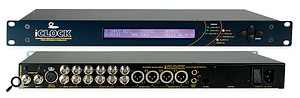 A master clock may well become necessary if working with external video machines because of the need to synchronise video and word clock. In this case, agood-value option would be the Mutec Iclock, shown here.