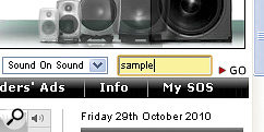 Just type 'sample' into the 'quick search' box at the top right‑hand side of the SOS home page to access an enormous archive of sample‑libraryreviews.
