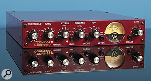 While you may like the effect a certain piece of gear (like this Golden Age Project Comp 54) has on your recordings, passing your left and right channels through it separately is not a good idea. The reason for this is that the compressor can only react to what it is fed at