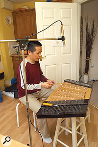 You can't mic a hammered dulcimer too close because of the way the instrument is constructed and where the sound comes from — you'll lose the balance between the different strings. This means that, with this particular instrument, you need to be especially careful of spill.