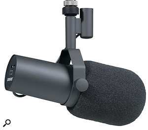 You won't find self-noise specifications for the Shure SM7b, as it is a dynamic (moving-coil) microphone. The only self-noise generated is the thermal noise from its own output impedance.