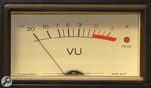 A nominal operating level would be 0VU, which normally equates to  4dBu in the analogue world. As most good analogue equipment clips at around  24dBu, there is usually about 20dB of headroom to capture fast transient peaks that the meter can't show when the signal is averaging at around 0VU.