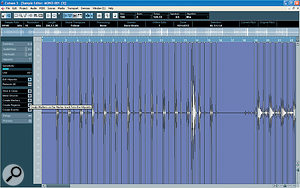 In the March issue of Sound On Sound, Sam Inglis demonstrated how to use markers as hitpoints in Cubase, offering a good way of correcting timing across multiple drum tracks.