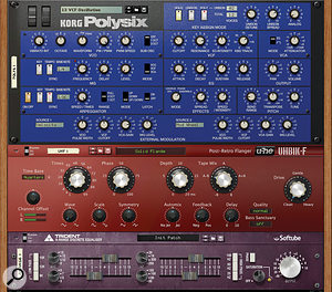 Korg's virtual Polysix synth, u-He's Uhbik-F Flanger and Softube's superb Trident A-Range EQ: just the tip of the Rack Extension iceberg.