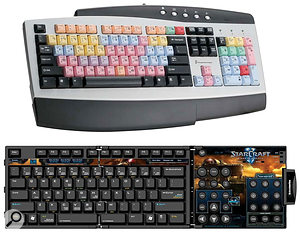 Just as many professional Pro Tools operators use special keyboards (top) with the shortcuts printed on the keys, so too are dedicated Starcraft keyboards (above) available.