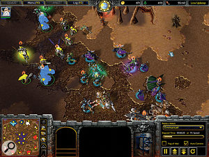 Another popular Blizzard RTS game is Warcraft III.