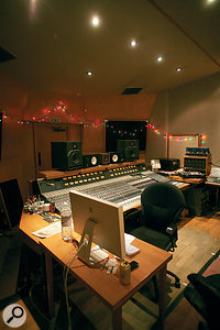 Konk's main control room is built around a vintage Neve 8082 desk.