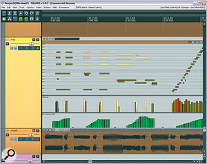 One of the best new MIDI features is that MIDI Items can now be edited directly from Reaper's main arranger window, as shown here.