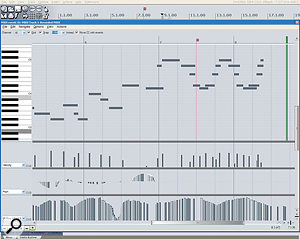 MIDI editing features have been greatly improved, with multiple controller lanes (shown here) and anew Event List option.