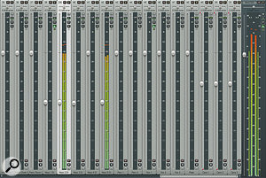 Using the full mixer height for your meters gives you greater detail — especially useful for quiet material.