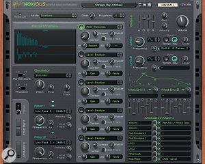 Noxious: not alost episode of The Young Ones, but another Rack Extension additive synth.