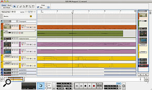In the absence of track folders, Reason and Record's sequencer windows can be made much easier to navigate just by folding tracks you've finished working on, and by colouring tracks and clips systematically.