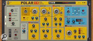 A pitch-shifter it may be, but Polar can also pull off some weird granular synthesis-like textures, 'freezing' the incoming audio stream.