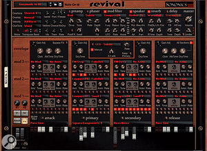 Revival is atrue mould-breaker of asynth, capable of some down and dirty tones.