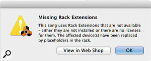 Reason 6.5 is as helpful as it can be when you try to open songs that include Rack Extensions you don't have. You might end up with non-functional 'placeholders' in your rack, but at least you'll still be able to do something.