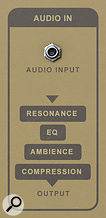 Make all your audio sound like it's coming out of apiano, with the rear panel audio input!