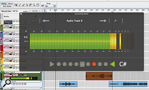 Reason 6's huge recording meter overlay will be a boon for guitarists and singers working at adistance from their computer monitors.