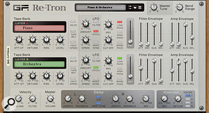 A sample library in a rack extension: GForce's Re-Tron is a 21st century take on the Mellotron tape-based instrument.