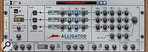 Alligator works well when paired with a Matrix sequencer (or three). You can use Matrix's Gate CV pattern sequencing to trigger Alligator's gates.
