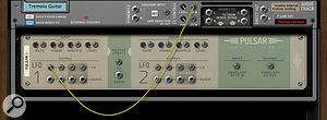 Using Pulsar to create a tremolo effect for a guitar sound.