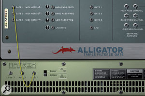 Alligator excels as apreset wonder and as aplayable programmer's dream. Either way, it's all about rhythmic gated effects.