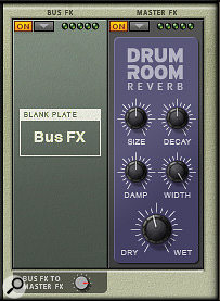 Lurking within Kong, and accessed from its rear panel audio inputs, the Drum Room reverb.