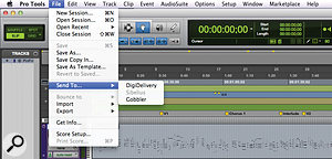 Exporting and sharing a  session from Pro Tools via Gobbler.