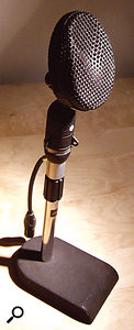 The Coles 4038 with a 4071B XLR/mic-stand adaptor.