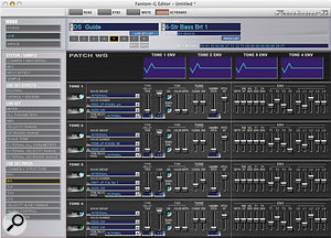 Every single parameter of the Fantom G can be adjusted via its software editor — a tweaker's paradise!