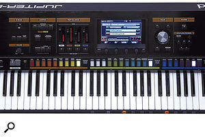 Largely eschewing the knobs and sliders of its forebear, the Jupiter 80's synth engine is accessed mostly via the 800 x 480-pixel touchscreen.