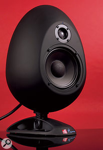 The stand built in to the Egg speakers allows them to be angled downwards by a maximum of 15 degrees.