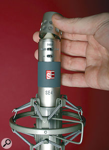 Like the earlier SE3, the cardioid capsule comes as standard, but on the SE4 it can be swapped for ahypercardioid or omni capsule, both of which can be purchased separately.
