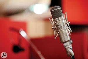 A classic Neumann U47 microphone.