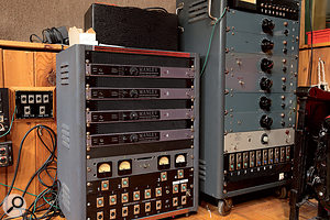 Rather than use console preamps, Walter Sear placed high-quality valve preamps by Pultec and Manley in the live rooms, routing their outputs straight to tape to achieve the shortest possible signal path. Most of the preamps were modified to his specifications.