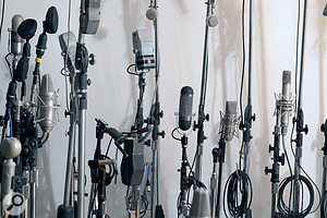 There's no mic locker at Sear Sound: all the studio's many high-quality mics are permanently available.