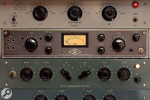 Rare tube outboard gear: Magna-Tech Type 27 EQ, Universal Audio 176, and Pultec EQH2.