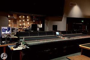 The dimensions of the control room are matched by the vast Neve 88VR mixing console.