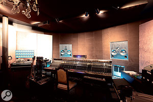 The large control room at Waterfront is based around a beautifully restored Helios mixer.