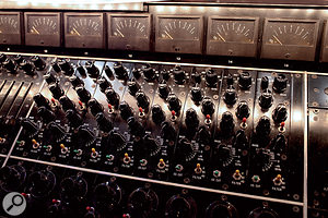 A close-up showing the Helios EQ and preamp controls.
