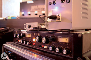 The outboard collection includes a pair of rare Quad Eight AM 3B compressors.