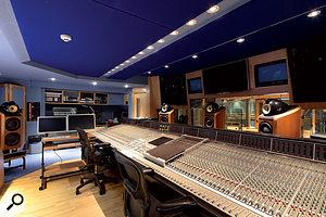 Studio 3's control room, with its SSL J-series desk.