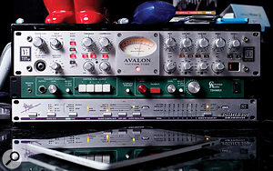 Shahid Khan does most things 'in the box', but Cabana Studio has a few pieces of nice outboard, including an Avalon 737 input channel, Coleman monitor controller and Apogee Rosetta 800 A-D converter.