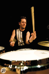 The man behind the kit, Levi Szendro, who needed the patience of asaint to track all the sample-library hits!