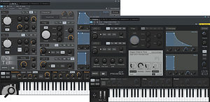 The new Presence XT sample–playback instrument and Mai Tai virtual analogue synth share many design features.