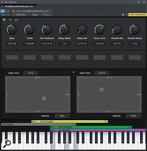 A Multi–Instrument's Macro Controls can be assigned to any of the parameters for any loaded instrument.