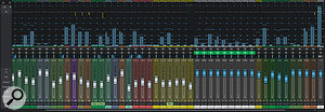 Studio One's Console can be viewed in narrow (top) or wide (above) modes.